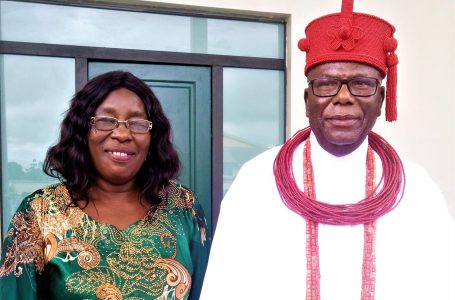 COMMISSIONER FOR TECHNICAL EDUCATION FELICITATES WITH OVIE OF UVWIE KINGDOM ON HIS 13TH CORONATION ANNIVERSARY